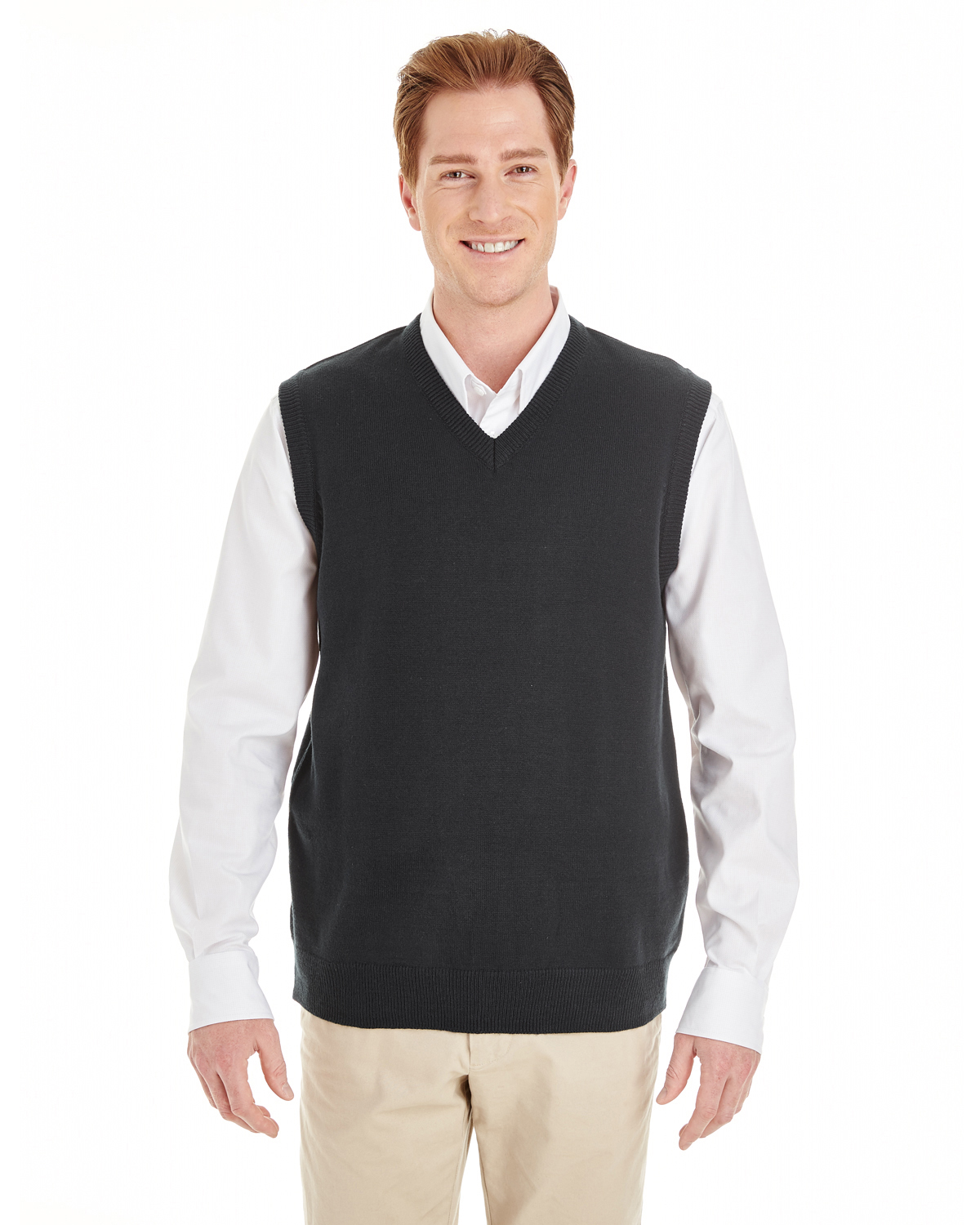 Harriton - M415 Men's Pilbloc™ V-Neck Sweater Vest
