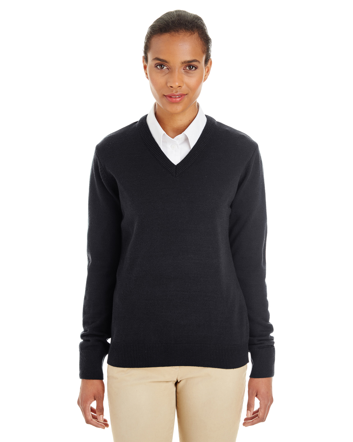 Harriton - M420W, Ladies' Pilbloc V-Neck Sweater - Logo Masters International