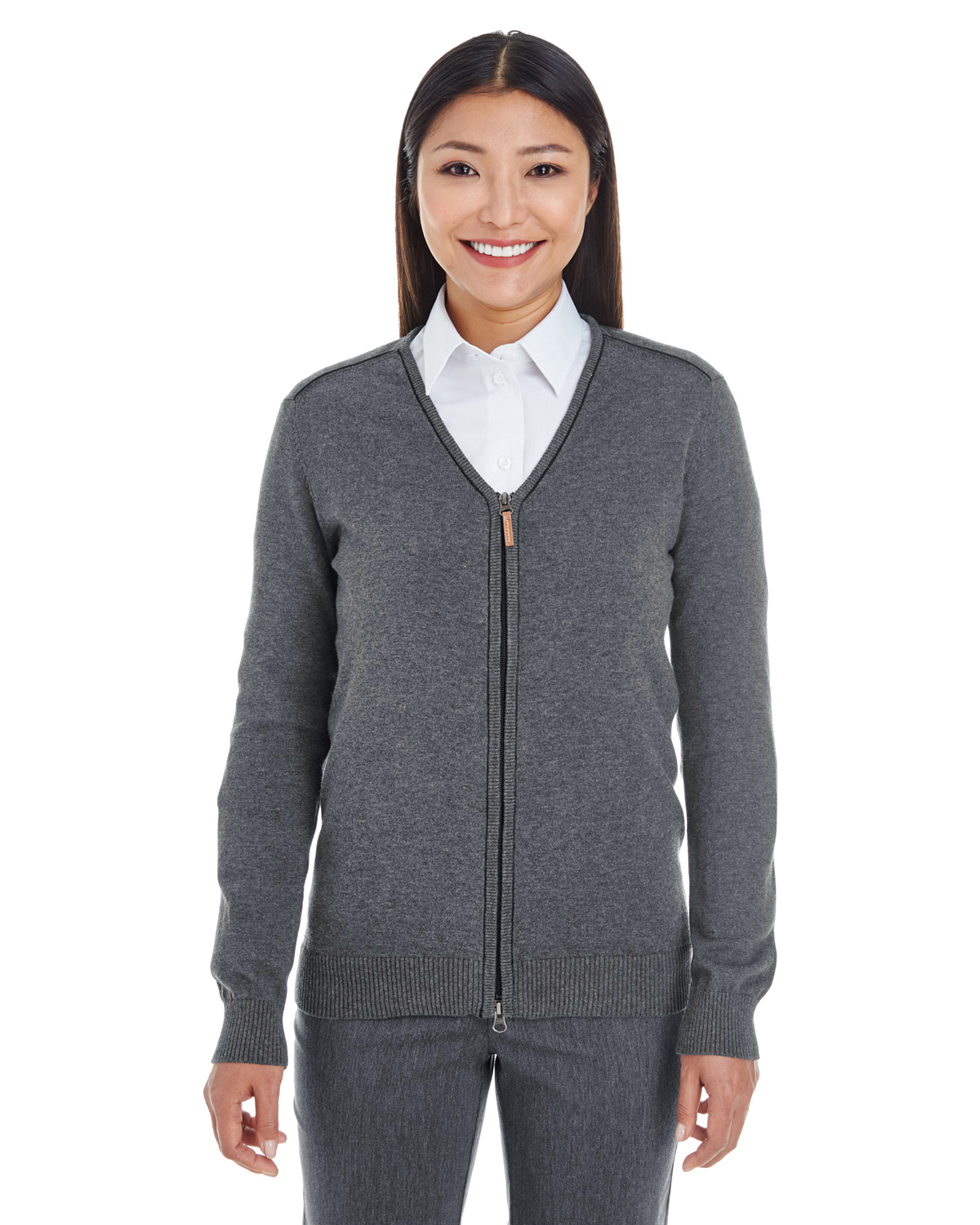 Devon & Jones - DG478W Ladies' Manchester Fully-Fashioned Full-zip Sweater, Pensacola, Embroidery, Screen Printing, Logo Masters International