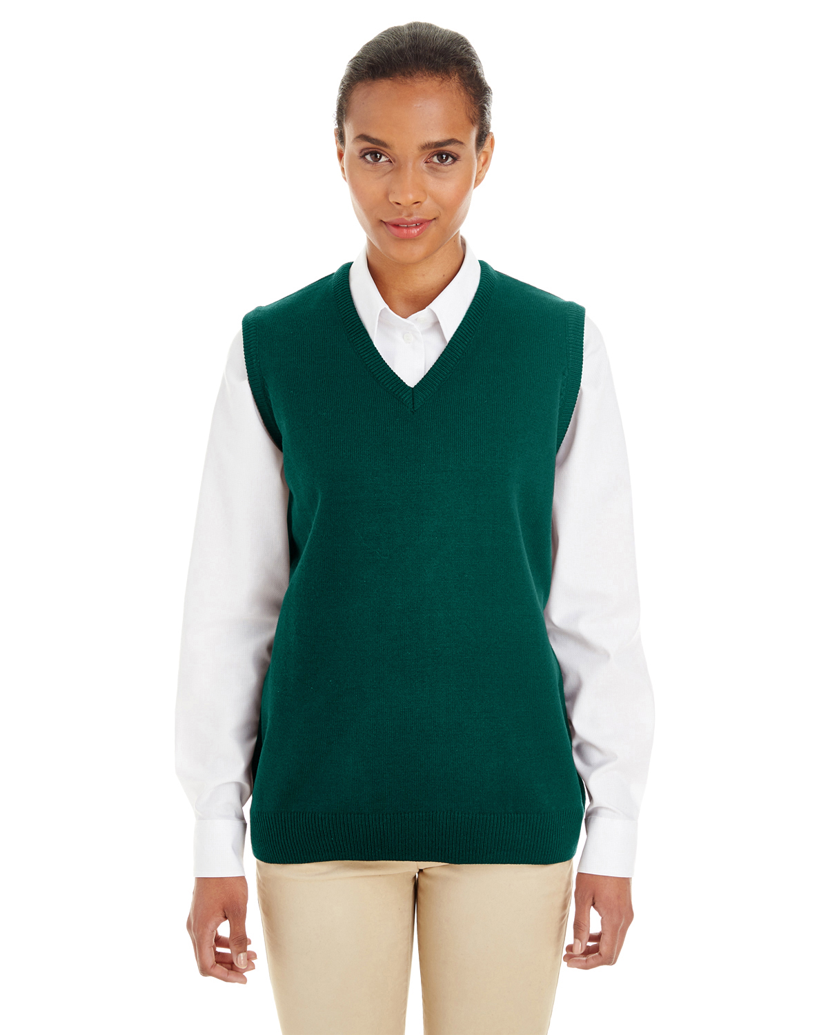 Harriton - M415W, Ladies' Pilbloc V-Neck Sweater Vest - Logo Masters International