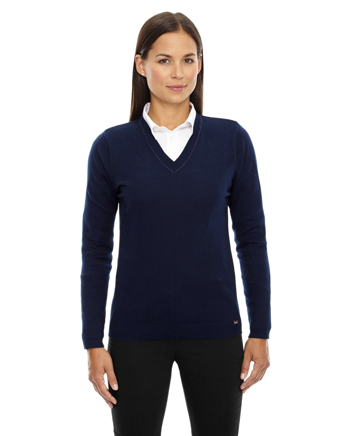 Ash City - 71010, Ladies' Merton Soft Touch V-Neck Sweater, Embroidery, Screen Printing - Logo Masters International
