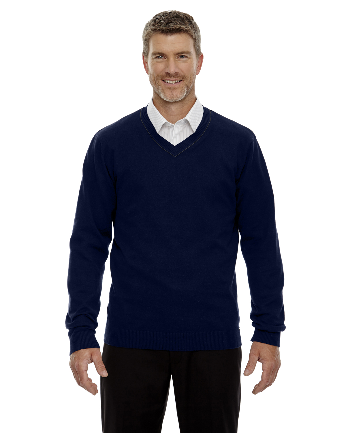 Ash City - 81010 Men's Merton Soft Touch V-Neck Sweater, Pensacola, Embroidery, Screen Printing, Logo Masters International