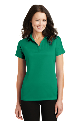 Port Authority - L575, Ladies Crossover Raglan Polo, Embroidery, Screen Printing - Logo Masters International