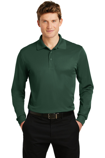 Sport-Tek - ST657 Mens Long Sleeve Micropique Sport-Wick Polo, Pensacola, Embroidery, Screen Printing, Logo Masters International