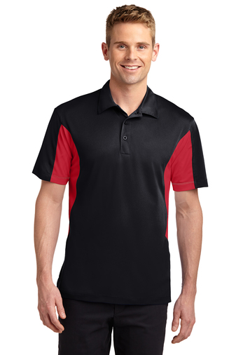 Sport-Tek - TST655, Mens Tall Side Blocked Micropique Sport-Wick Polo - Logo Masters International