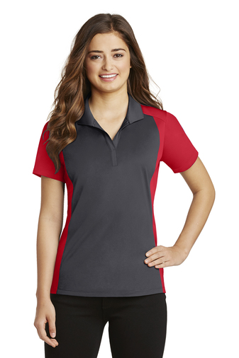 Sport-Tek - LST652 Ladies Colorblock Micropique Sport-Wick Polo, Pensacola, Embroidery, Screen Printing, Logo Masters International