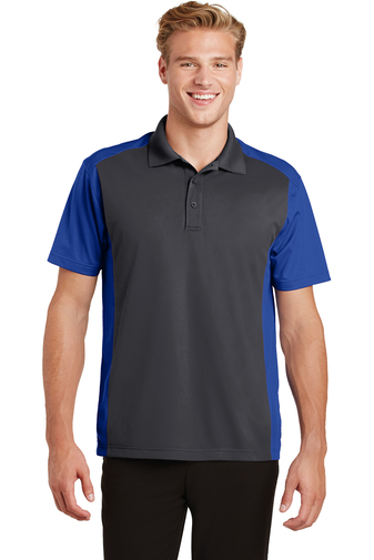 Sport-Tek - ST652 Mens Colorblock Micropique Sport-Wick Polo