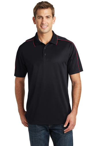 Sport-Tek - ST653, Mens Micropique Sport-Wick Piped Polo - Logo Masters International
