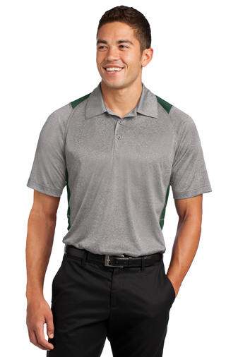 Sport-Tek - ST665, Mens Heather Colorblock Contender Polo - Logo Masters International