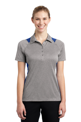 Sport-Tek - LST665, Ladies Heather Colorblock Contender Polo, Embroidery, Screen Printing - Logo Masters International