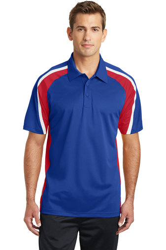 Sport-Tek - ST654 Mens Tricolor Micropique Sport-Wick Polo, Pensacola, Embroidery, Screen Printing, Logo Masters International