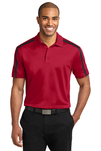 Port Authority - K547 Mens Silk Touch Performance Colorblock Stripe Polo, Pensacola, Embroidery, Screen Printing, Logo Masters International