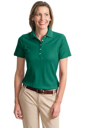 Port Authority - L800 Women's EZCotton Pique Polo Shirt, Pensacola, Embroidery, Screen Printing, Logo Masters International