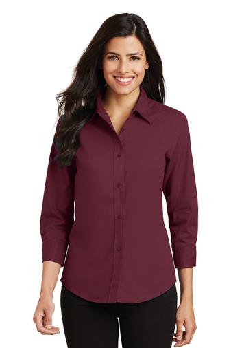 Port Authority Women's 3/4 Sleeve Easy Care Shirt