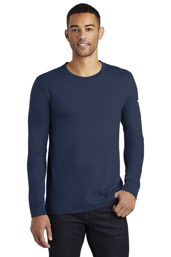Nike Men's Core Cotton Long Sleeve Tee