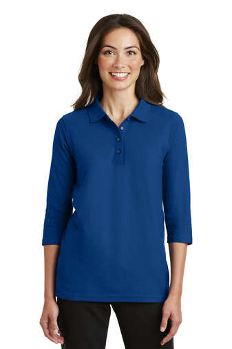 Port Authority - L562 Ladies Silk Touch 3/4-Sleeve Polo Shirt