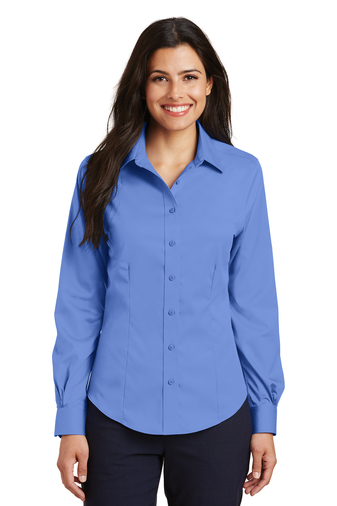 Port Authority - L638 Women's Long-sleeve No-Iron Twill Shirt, Pensacola, Embroidery, Screen Printing, Logo Masters International