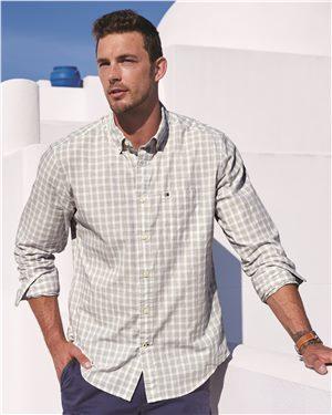 Tommy Hilfiger Mens Long Sleeve Plaid Shirt