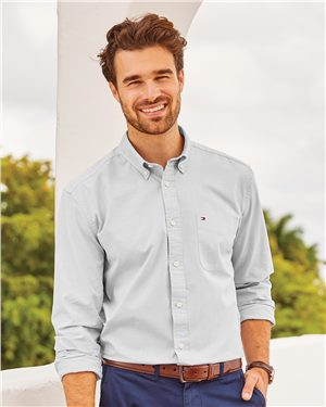 Tommy Hilfiger Men's Capote End-on-End Chambray Shirt
