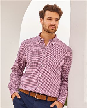 Tommy Hilfiger Men's 100s Two-Ply Gingham Shirt