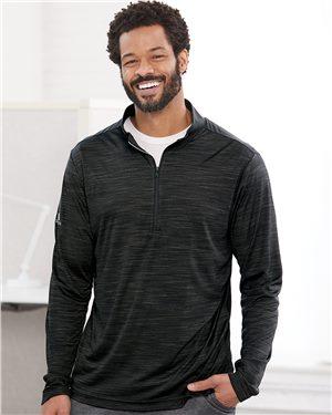 Adidas Men's Lightweight Mélange Quarter-Zip Pullover