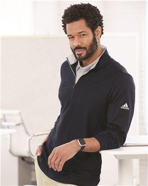 Adidas Men's Performance Texture Quarter-Zip Pullover