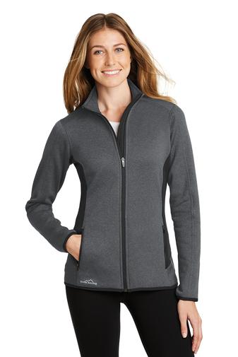 Eddie Bauer Ladies Full-Zip Heather Stretch Fleece Jacket