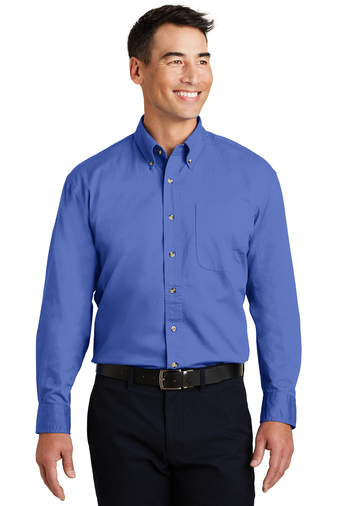 Port Authority Men's Embroidered Long Sleeve Tall Twill Shirt