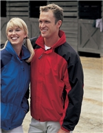 Tri-Mountain - 2100 , Men's Big & Tall Textured Ripstop Nylon Shell Embroidered Jacket w/Contrasting Sleeve Inserts, Embroidery, Screen Printing, Pensacola, Logo Masters International