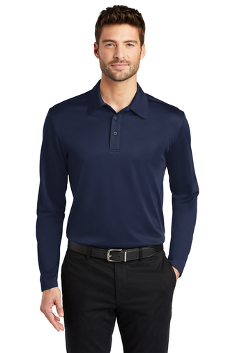 Mens Silk Touch Performance Long Sleeve Polo, Embroidery, Screen Printing, Pensacola, Logo Masters International