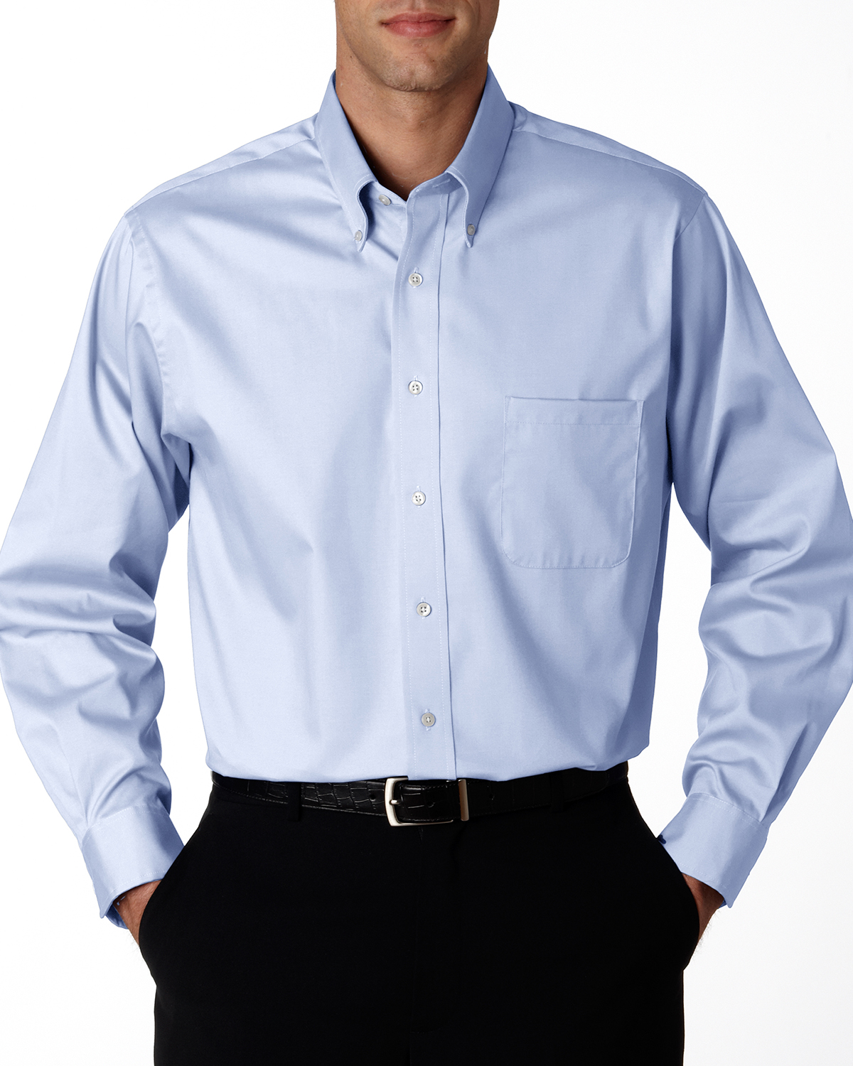 Van Heusen - 13v0067 Van Heusen Mens Wrinkle-Resistant Pinpoint Oxford Shirt, Pensacola, Embroidery, Screen Printing, Logo Masters International