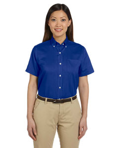 Van Heusen - 13v0003, Van Heusen Ladies Short-Sleeve Wrinkle-Resistant Oxford Shirt  - Logo Masters International