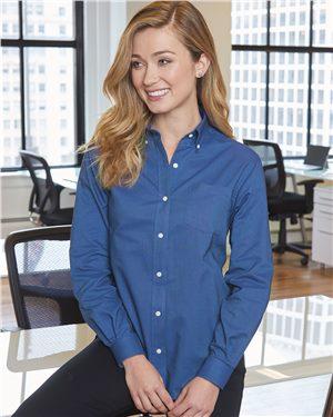 Van Heusen Ladies Long Sleeve Oxford Shirt