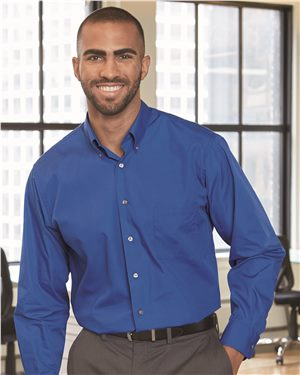 Van Heusen Mens Long Sleeve Silky Poplin Shirt