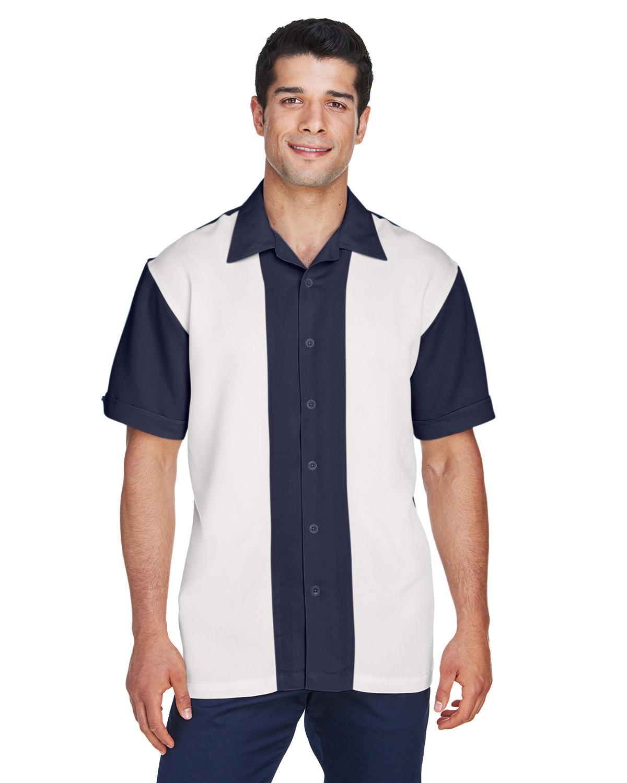 Harriton  Men's Embroidered Bahama Cord Camp Shirt