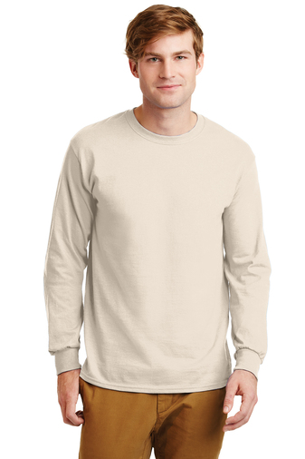 Gildan - 2400  Men's Screen Printed Ultra Cotton Long-Sleeve T-Shirt