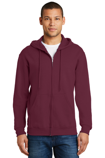 Jerzees - 993M , Adult NuBlend Hooded Full-Zip Sweatshirt , Embroidery, Screen Printing - Logo Masters International