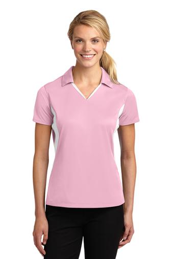 Sport-Tek Ladies Side Blocked Micropique Sport-Wick Polo Shirt