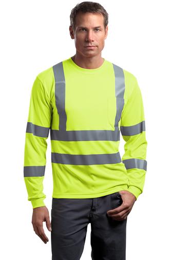 CornerStone ANSI 107 Class 3 Long Sleeve Snag-Resistant Reflective T-Shirt