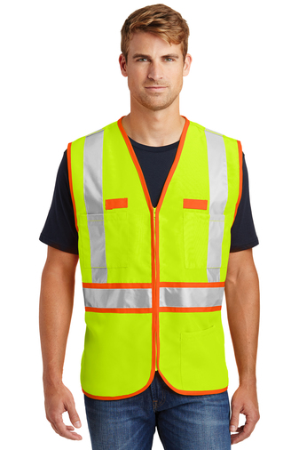 CornerStone - CSV407, ANSI 107 Class 2 Dual-Color Safety Vest, Embroidery, Screen Printing - Logo Masters International