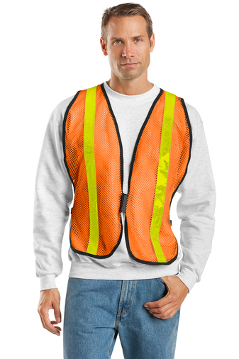 Port Authority - SV02, Mesh Safety Vest, Embroidery, Screen Printing - Logo Masters International