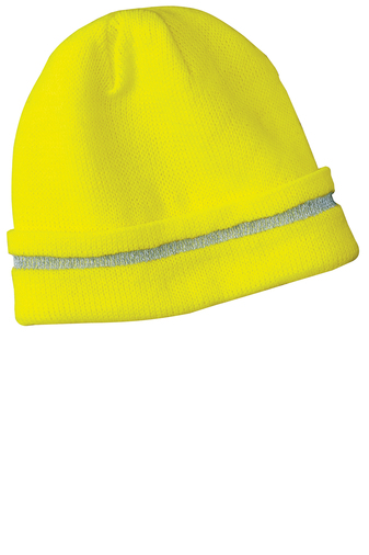 CornerStone - CS800 Enhanced Visibility Beanie with Reflective Stripe, Pensacola, Embroidery, Screen Printing, Logo Masters International