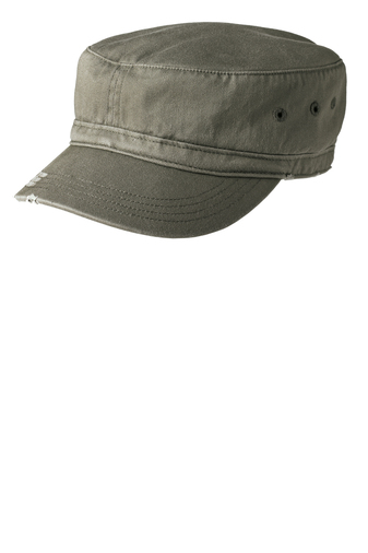 District Threads - DT605 , Distressed Military Cap - Logo Masters International