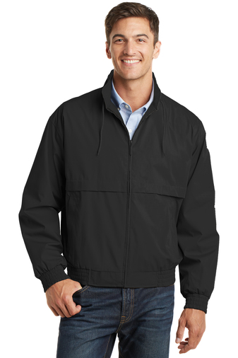 Port Authority - J753  Men's Classic Poplin Jacket, Pensacola, Embroidery, Screen Printing, Logo Masters International