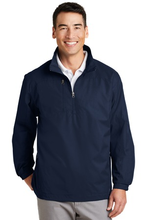 Port Authority - J703 Men's 1/2 Zip Wind Jacket, Pensacola, Embroidery, Screen Printing, Logo Masters International