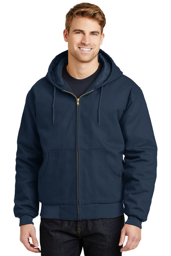 CornerStone - J763H, Men's Duck Cloth Hooded Work Jacket - Logo Masters International