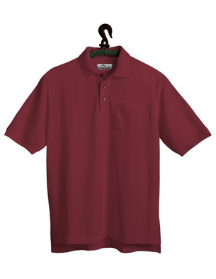 Tri-Mountain Men's Big & Tall Blended Pique Polo Shirt w/Scotchguard and Pocket