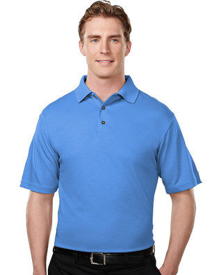 Tri-Mountain  Men's Big & Tall Embroidered Micromesh Ultra-Cool Polo Shirt