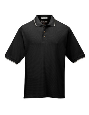 Tri-Mountain Men's Big & Tall Embroidered 60/40 Ultra-Cool Mesh Knit Polo Shirt