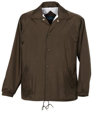Tri-Mountain Men's Big & Tall Nylon Taffeta Embroidered Coaches Jacket
